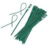 Gogdog 50 Stück 6,7/5,3 Zoll Flexible Kunststoff-Drehbinder Einstellbare Gartenpflanzen-Drehbinder für Mehrzweck-Gartenunterstützung DIY-Werkzeuge