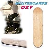 Gereton Skateboard Deck 8.0,Control Premium Blank Cruiser Decks 8-Layer Maple Wood Blank Double Concave Skateboards Cruiser Holz Deck (8inch)
