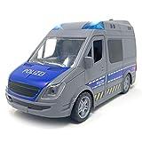 Spielzeug Polizeiauto mit Licht und Sound - Polizeibus mit Sirene und Blaulicht | Police Auto mit Friktionsantrieb und Vier Geräuschen | Polizei Spielzeugauto für Kinder (Polizei)