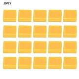 Hongzer 20 Stck Bienenwachs, gelbes natrliches Bienenwachszubehr in Lebensmittelqualitt Material fr Heimwerker, Kerzen, Hautpflege, Lippenbalsam, gelber Bienenwachsblock(28G)