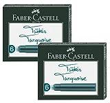Faber-Castell Tintenpatronen Standard (2 Packungen/türkis 6er)