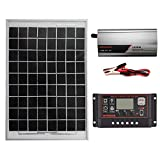 AIMERKUP Solarenergiesystem AC230 V 1000 W, Schutzkontakt-Umkehrschalter LCD Regler Solarpanel Bauteil des Laderegler Designer