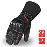 MaxTronic Motorrad Handschuhe Warme Motorradhandschuhe Winter Touchscreen Sport Handschuhe Wasserdicht Camping Outdoor für Herren und Damen