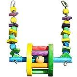 JUERBO Sittich Vogel Spielzeug Holzspielzeug Sonnenblumen Papagei Spielzeug FüR Papageien SpielzeugvöGel KäFig Nymphensittich (Farbe : Grün)