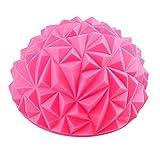 Maxpex Yoga-Fußmassage-Ball, Halbkugel-Massagegerät, Stachelmassageball, PVC, Fußauslöser, Stressabbau, Yoga-Massagegerät, Rose, 16.5x8.5cm