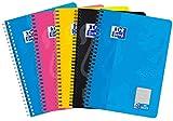 Oxford Touch Collegeblock B5, kariert, 80 Blatt, sortiert, 5er Pack
