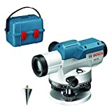 Bosch Professional Optisches Nivelliergerät GOL 26 D (26-fache Vergrößerung, Maßeinheit: 360 Grad, Arbeitsbereich: bis zu 100 m, im Transportkoffer)