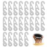 50PCS Maske Ohrhaken, Maskenhalter Maske Extender Halterung für Maske 3 Gang Einstellbare Haken Ohrenriemen Verlängerung Anti-Rutsch Wiederverwendbar,Ohrschutz für Erwachsene und Kinder(Weiß)