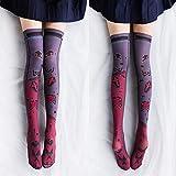 LIUCH Socken hohe Qualität Frauen Druck Oberschenkel hohe Strümpfe Overknee Socken lang dünn Strümpfe süß Mädchen Kawaii Strümpfe, Stil 3