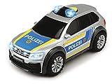 Dickie Toys 203714013 VW Tiguan R-Line 203714013-VW, Polizeiwagen mit Licht-und Sound, Polizeiauto, Mehrfarbig