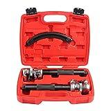 Fourward 3 TLG Schraubenfederkompressor Federspanner Werkzeug Hochleistungs-Federkompressor, extrem robust, stark und langlebig mit Sicherheitsschutz und Tragetasche