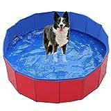 YSPS Faltbarer Hundepool, tragbarer Haustierhundpool, Faltbarer Kunststoff-Kinderbecken, geeignet für kleine, große Hunde, Katzen und Kinder geeignet 60x20cm
