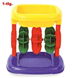 KarnevalsTeufel Sand-/Wassermühle mit 3 Rädern, Strandspielzeug, Sandkastenspielzeug, für Kin...