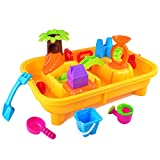 KTYX Sand & Strandspielzeug, Sand & Wassertische, Sand Wasserspiegel Garten Sandkasten-Spiel-Set Strand Spielzeug Schimmel Gießkanne Wassermühle