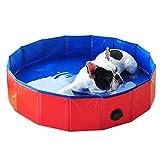 Fesjoy Zusammenklappbarer Pool für Haustiere Faltbarer Haustierbadewannenpool Faltbarer Haustierbadewannenpool für Hunde Katzen