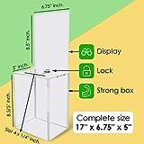 My Charity-Boxen–große Spende Box–Wahlurne–Vorschlagsbox–Acryl-Box–Spitze Snackverpackung mit großem Display Bereich