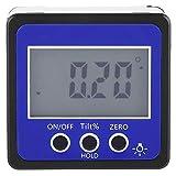Mootea Digital Winkelmesser Neigungsmesser Nivelliergerät 4 * 90 Grad Magnetfuß