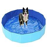 Ruick faltbarer Hundepool – Haustier-Badewanne für Hunde, zusammenklappbar, PVC-Planschbecken für Haustiere