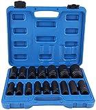 Schlagschrauber Nsse Set, 16-teilig Impact Socket Set mit 1/2 Zoll Antrieb, 10-32m Sechskant Nsse -Metric