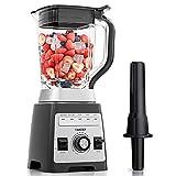 Mixer Smoothie Maker, YAKEEP Standmixer 2000W 2L Blender mit Rührstab, 27000 U/min Hochleistungsmixer, 8 Stahlklingen, BPA-freier Tritanbehälter, 5 voreingestellte Programme