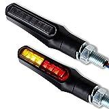 LED Mini Blinker Rücklicht Bremslicht Kombination 3 in 1 Shark X1 Motorrad Quad Roller universal schwarz getönt