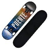 TTJZ Pro Skateboard Komplett für Erwachsene Jugend Kind-und Anfänger - 31' Double Kick-Konkav-Straße Skateboard 8 Schicht Alpine Hard Rock Maple Deck ABEC-9 Bearings,Gelb