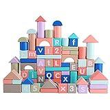 Lihgfw Bausteine für Kleinkinder, Lernspielzeug, Holzversammlung, Frühe Bildung, Multifunktions-Inhalt, mit beidseitigem Druck, Spaß, Educational Learning