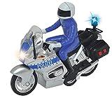 Dickie 203712004AMA Toys 203712004-Police Bike, Polizeimotorrad, 15 cm