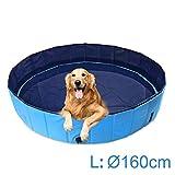 AMIGOB Hundepool Doggy Pool Swimmingpool Badewanne Pool Hundepool 160*30cm Schwimmbecken Planschbecken