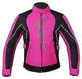 Warrior Gears® Damen Motorradjacke für Frauen   CE gepanzert   Regen Wasserdicht Biker Moto Reiten Damen Motorradjacken Gr. 42, rose