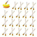 Pinselset Pinsel Holz Streichen 15*25mm Flachpinsel Lasurpinsel Lackierpinsel Für Pinsel Lack, Für Acrylfarben Wasserfarben Beizen Lack Gesso Grundierungen, 40 Stücke