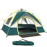 YZSS Wurfzelt Pop Up Zelt 3-4 Personen Kuppelzelt Leichtes Campingzelte Wasserdichtes Winddicht Ultraleichte Camping Zelt, Outdoor/Beach Wurfzelt mit Tragetasche (210 * 200 * 135 cm)