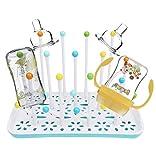 Trockenständer babyflaschen,abtropfgestell flaschen,Trockenständer für Flaschen,Abtropfgestelle für Babyflaschen, Flaschen, BPA-frei (Blau)