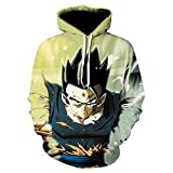 zysymx Sieben Dragon Ball Dragon Ball 3D Hoodie außer Kontrolle geraten Dragon Ball Z Vegeta Saiyan drehte Hoodie