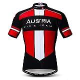 Weimostar Radfahren Jersey Herren Radfahren Kleidung Fahrrad Jersey Top Mountain Road MTB Jersey Shirt Kurzarm Atmungsaktive Team Sport Österreich Multi Größe L