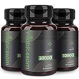 Kapseln Mit Hanf 30000 mg, hochfeste kaltgepresste, 100% natürliche Formel - Reich an Omega 3, 6, 9 (3PACK)