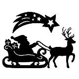Stanzschablonen | Weihnachtsmann mit Schlitten | 2 Stück