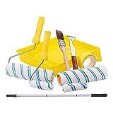 UBAYMAX komplettes Farbroller Set Maler-Set 18-teiliges, Starter Paint Roller Kit Pinsel mit Teleskopstangen, Farbrollerbügel, Farbwalzen, Farbwanne für dekorative Renovierungs- und Malerarbeiten