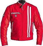 Helstons Shelby Motorrad Textiljacke Rot/Wei L