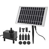 Solarbrunnen-Wasserpumpen-Kit, 10V/5W Solarpanel-Tauchpumpe, geruscharm, energiesparend, fr Aquarium, Wasserfall, kleiner Teich, Gartendekoration, Brunnen, Aquarium