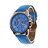 Kaitoly Fashion Watch Armbanduhr Mode Kunstleder Ziffern Casual Klassisch Analog Quarzuhr, Herren, D