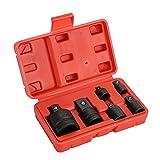 6tlg Stecknuss Adapter Satz Schlagschrauber Nuss Set 1/4 3/8 1/2 auf 3/4 Zoll,Adapter Stecknuss, Stecknuss Adapter, Adapter Ratsche Set