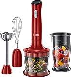 Russell Hobbs Stabmixer 3-in-1 Desire (Zerkleinerer, Mixer- & Schneebesenaufsatz), BPA-freies & spülmaschinenfestes Zubehör, Pürierstab f. Smoothie, Suppen, Joghurt, Saucen, Babynahrung 24700-56