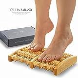 NEUES DESIGN: Fußmassageroller aus Holz   Triggerpunkt Massagegerät Holz   Fussreflexzonenmassage für Entspannung   Fersenrolle   Fußroller für Fußgymnastik   Faszienrolle für Füße