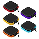 ukcoco Etui 5-teilig mit Reißverschluss Reise-Etui mit Reißverschluss EVA Mini Etui für Kopfhörer, USB Kabel (mehrfarbig)