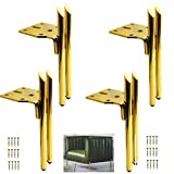JqwerP 4er-Set Möbelbeine aus Metall, Sofabeine aus Eisen, Zubehör für DIY-Bettbeschläge, Ersatzbeine für TV-Schränke, Couchtisch