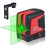 Funien 2-Linien-Niveaumessgerät Selbstnivellierend 2 grüne Strahlen Horizontal/Vertikal/Kreuzlinien-Nivelliergerät mit Magnethalterung für den Heimgebrauch