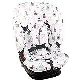 Bezug Maxi-Cosi Titan Pro Kindersitz Weiß Kaninchen Perfekte Passform Recycelbar Schweißabsorbierend und Weich für Ihr Kind Schützt vor Verschleiß und Abnutzung Öko-Tex 100 Baumwolle