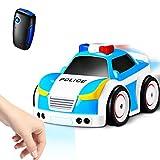 Homonic Ferngesteuertes Auto Kinder 4 Modi 2,4G Fernbedienung, Polizeiauto mit Musik RC Auto Kleinkind, Tracking-Modus--Geschenk Spielzeug Junge 2 3 4 5 6 7 8 Jahre