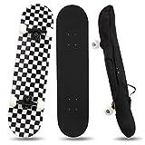 YINXN Skateboard, Komplettboard 7-lagiges Ahornholz-Deck-Skateboard mit ABEC-5-Kugellager-Skateboard, 80x20cm Professionelles Skateboard für Anfänger, Erwachsene und Jugendliche